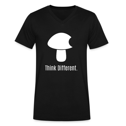 Think Different. - Men's V-Neck T-Shirt by Canvas