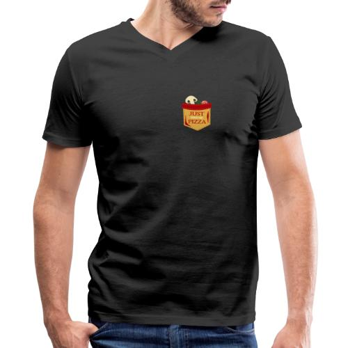 Just feed me pizza - Men's V-Neck T-Shirt by Canvas