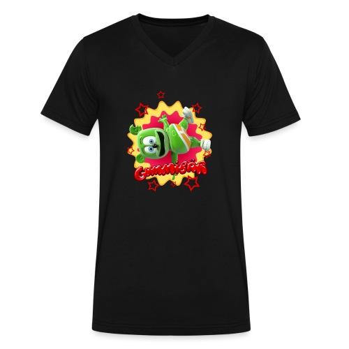 Gummibär Starburst - Men's V-Neck T-Shirt by Canvas