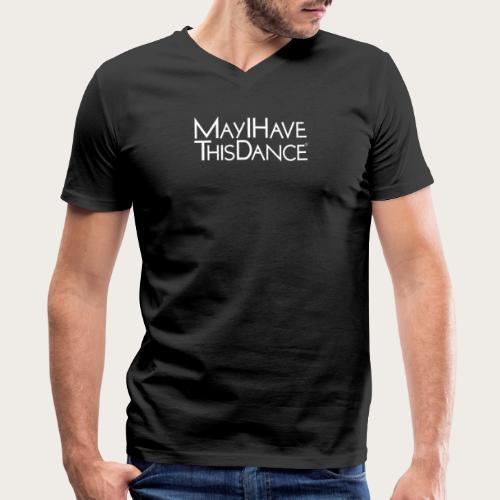 MAYI white logo - Men's V-Neck T-Shirt by Canvas