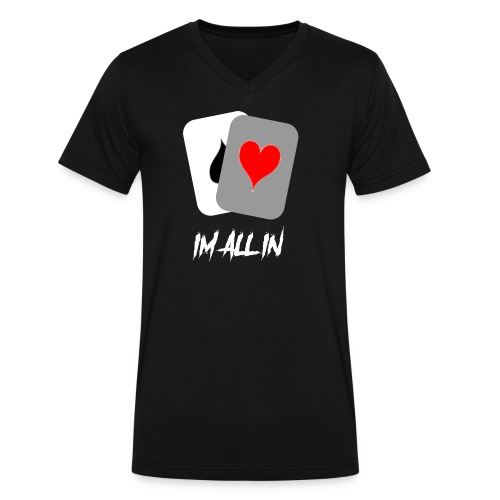 IM ALL IN - Men's V-Neck T-Shirt by Canvas
