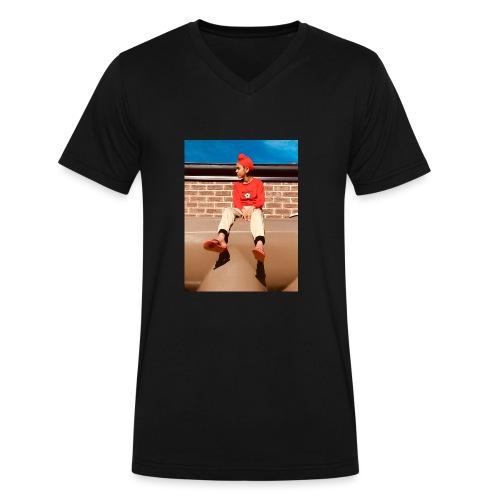 Flamin_Danger - Men's V-Neck T-Shirt by Canvas