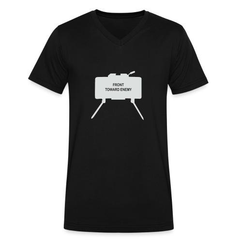 Claymore Mine (Minimalist/Light) - Men's V-Neck T-Shirt by Canvas