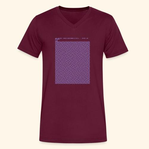 10 PRINT CHR$(205.5 RND(1)); : GOTO 10 - Men's V-Neck T-Shirt by Canvas