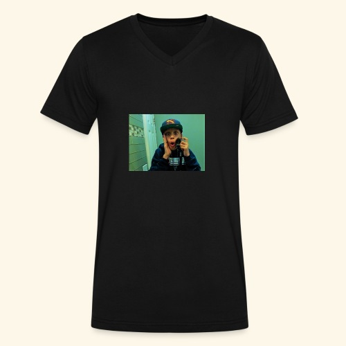 Pj Vlogz Merch - Men's V-Neck T-Shirt by Canvas