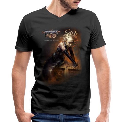 Gazing at Medusa V2 - Men's V-Neck T-Shirt by Canvas