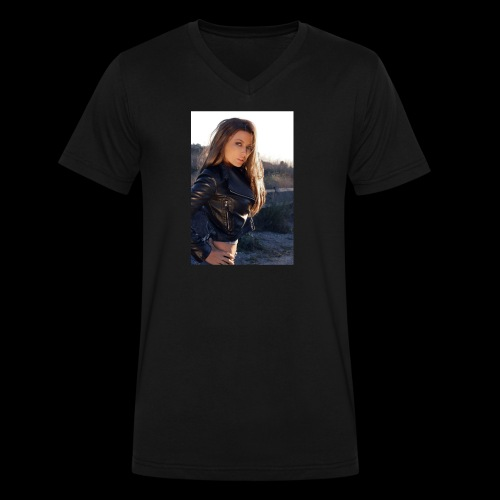 Rebecca Grant tuff and sexy - Men's V-Neck T-Shirt by Canvas