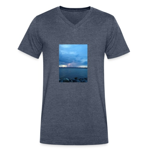 Storm Fall - Men's V-Neck T-Shirt by Canvas