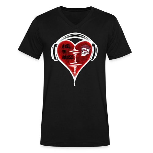Axelofabyss Music in your heart - Men's V-Neck T-Shirt by Canvas