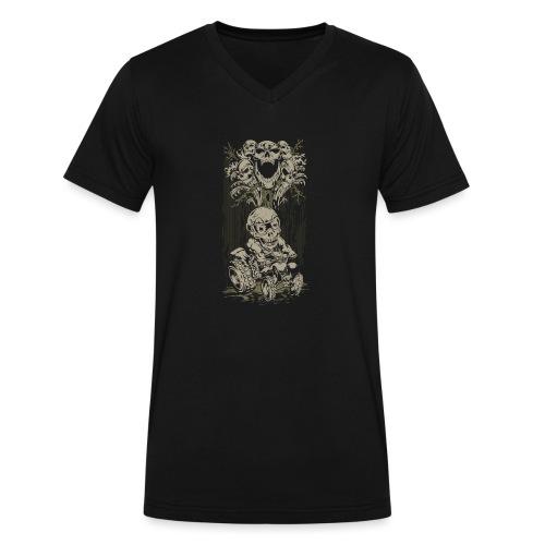ATV Skully Skull Tree - Men's V-Neck T-Shirt by Canvas