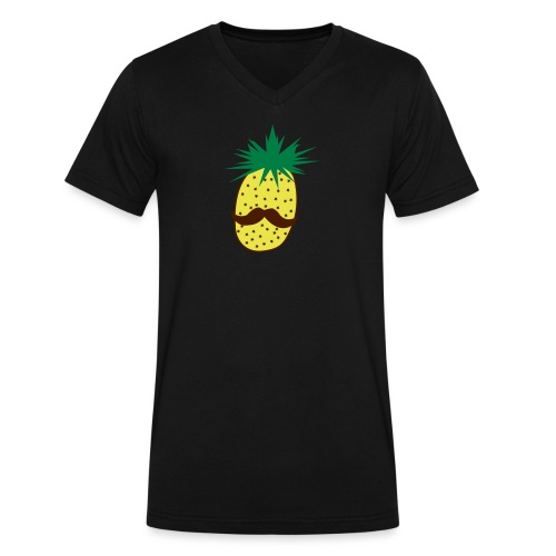 LUPI Pineapple - Men's V-Neck T-Shirt by Canvas