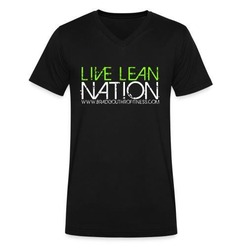 Live Lean Nation Long Sleeve - Men's V-Neck T-Shirt by Canvas