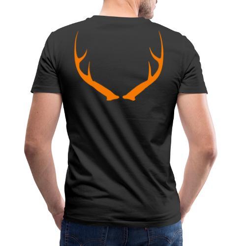 DEER ANTLERS BLAZE - Men's V-Neck T-Shirt by Canvas