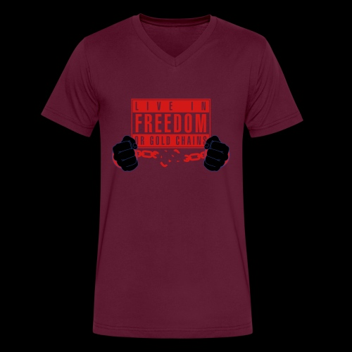 Live Free - Men's V-Neck T-Shirt by Canvas