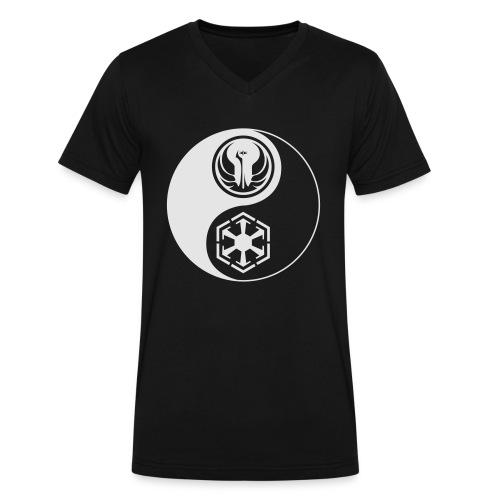 Star Wars SWTOR Yin Yang 1-Color Light - Men's V-Neck T-Shirt by Canvas