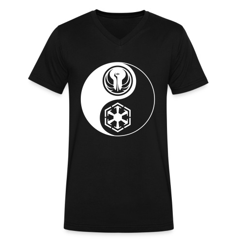 Star Wars SWTOR Yin Yang 1-Color Light - Men's V-Neck T-Shirt by Canvas