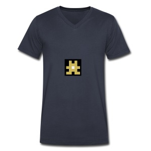 YELLOW hashtag - Men's V-Neck T-Shirt by Canvas