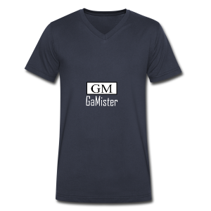 gamister_shirt_design_1_back - Men's V-Neck T-Shirt by Canvas
