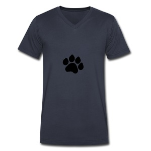 Black Paw Stuff - Men's V-Neck T-Shirt by Canvas