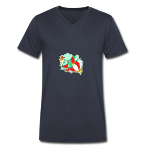 Psychedelic Lion - Men's V-Neck T-Shirt by Canvas