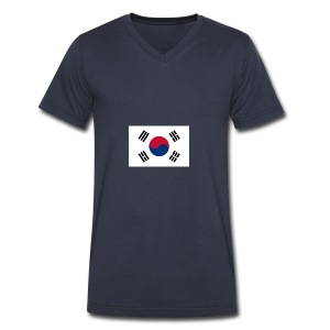 Flag of South Korea - Men's V-Neck T-Shirt by Canvas