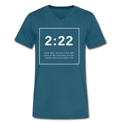 Angel Number 2:22 - Men's V-Neck T-Shirt by Canvas