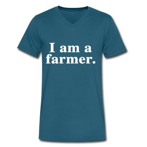 I am a farmer. - Men's V-Neck T-Shirt by Canvas