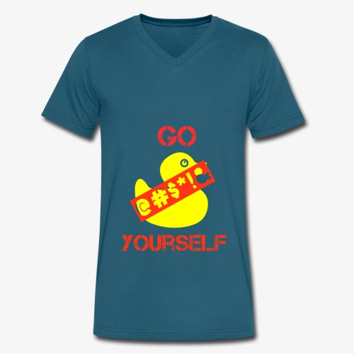 Go Duck Yourself - Men's V-Neck T-Shirt by Canvas