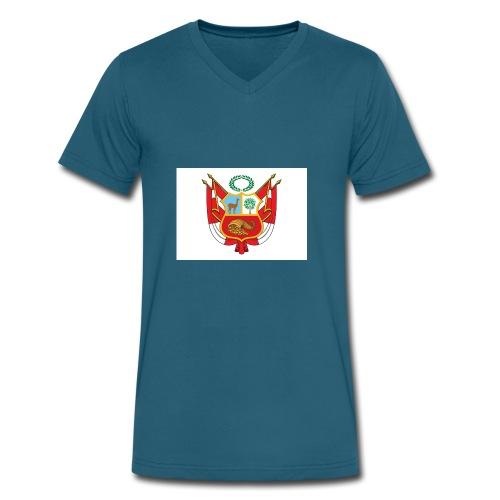 Nuevo Escudo Peruano 1 - Men's V-Neck T-Shirt by Canvas
