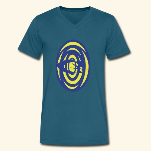 first logo - Men's V-Neck T-Shirt by Canvas