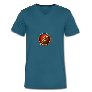 the_flash_logo_by_tremretr-d8uy5gu - Men's V-Neck T-Shirt by Canvas