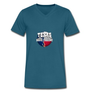 Texas Bank Fishing - Men's V-Neck T-Shirt by Canvas