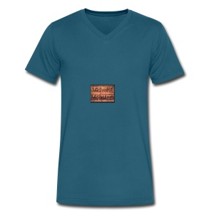 Midwest Monsters Wood Logo - Men's V-Neck T-Shirt by Canvas