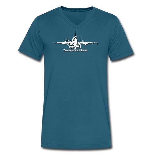 TriforceFilms Logo White - Men's V-Neck T-Shirt by Canvas