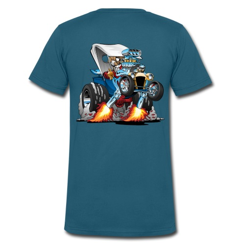 Custom T-bucket Roadster Hotrod Cartoon - Men's V-Neck T-Shirt by Canvas