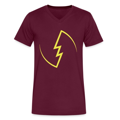 Electric Spark - Men's V-Neck T-Shirt by Canvas