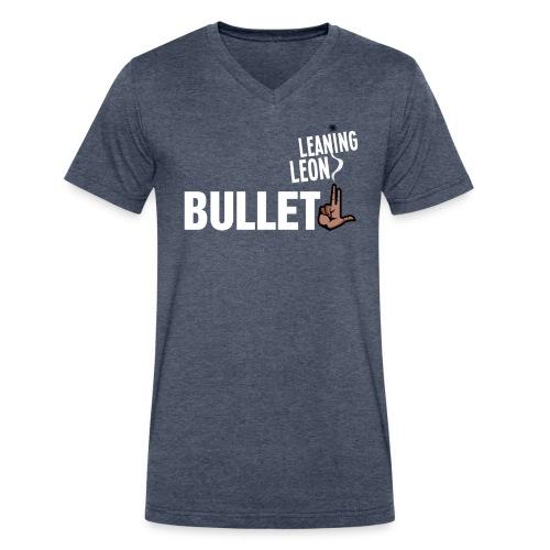 bullletgray2 - Men's V-Neck T-Shirt by Canvas