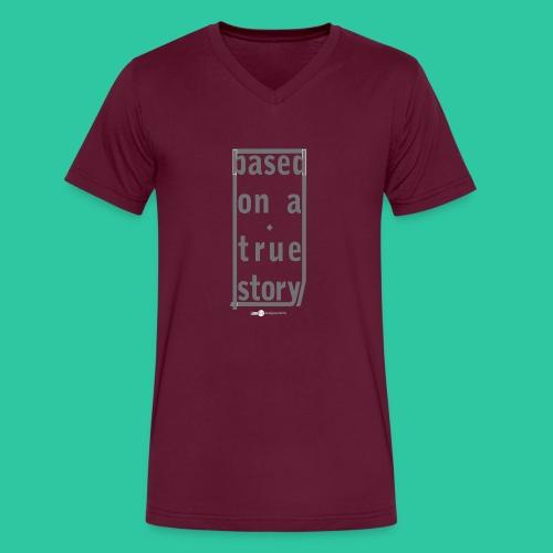 True Story grey2 - Men's V-Neck T-Shirt by Canvas