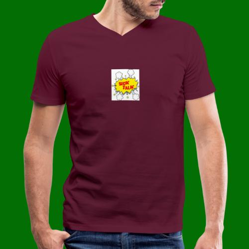 Sick Talk - Men's V-Neck T-Shirt by Canvas