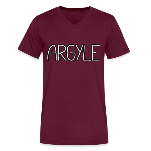 Argyle - Men's V-Neck T-Shirt by Canvas