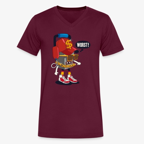 Worst Robo - Men's V-Neck T-Shirt by Canvas
