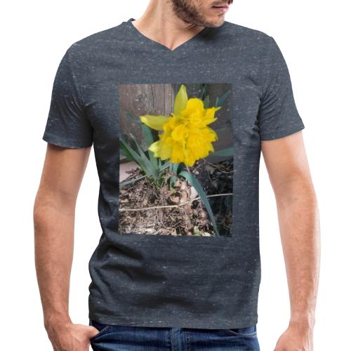 YELLOWFLOWER by S.J.Photography - Men's V-Neck T-Shirt by Canvas
