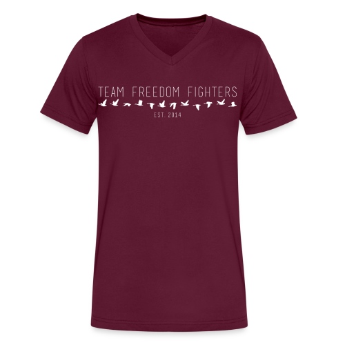 team freedom fighters log - Men's V-Neck T-Shirt by Canvas