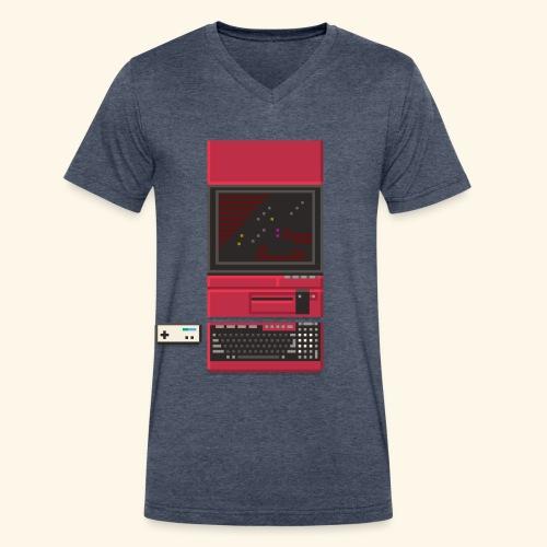 x1 - Men's V-Neck T-Shirt by Canvas