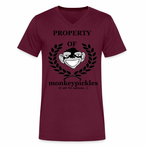 property of - Men's V-Neck T-Shirt by Canvas