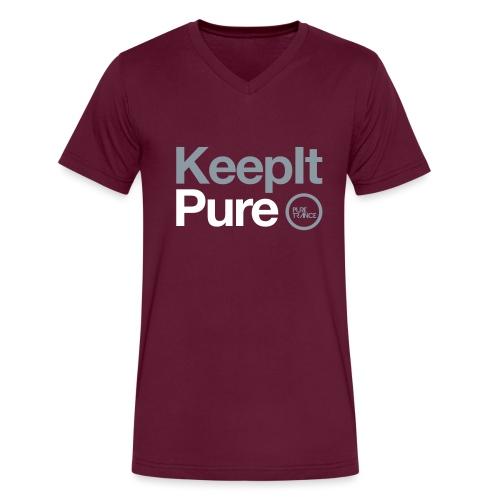 Pure Trance Logo - Men's V-Neck T-Shirt by Canvas