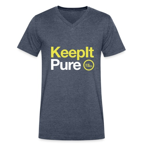 Pure Trance Logo - Men's V-Neck T-Shirt by Canvas