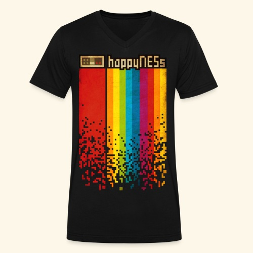 happyNESs - Men's V-Neck T-Shirt by Canvas