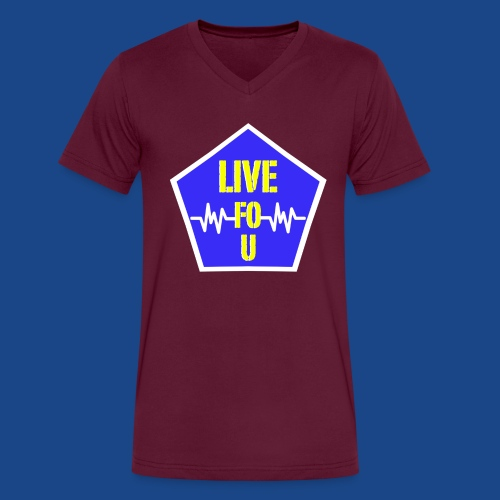 LIVE FO SHOW YELLOW png - Men's V-Neck T-Shirt by Canvas