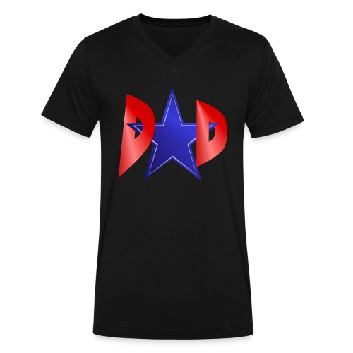 Blue Star Dad - Men's V-Neck T-Shirt by Canvas